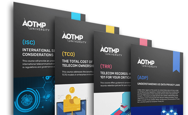 Selection of AOTMP University courses.